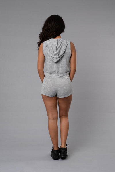 Restless Romper - Grey