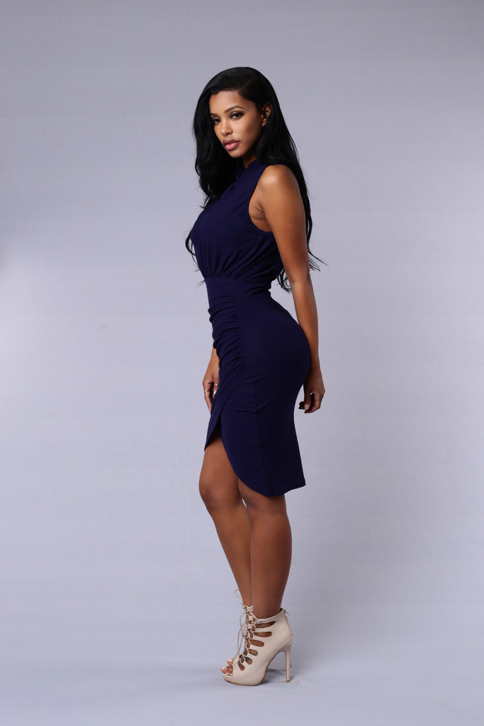 White Collar Crime Dress - Navy