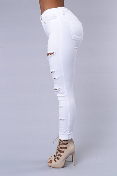 Slash and Burn Jeans - White