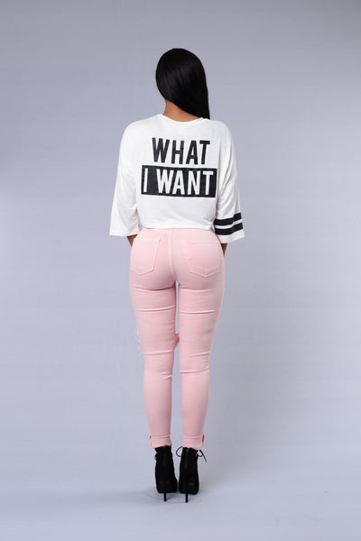 What I Want Top - Ivory