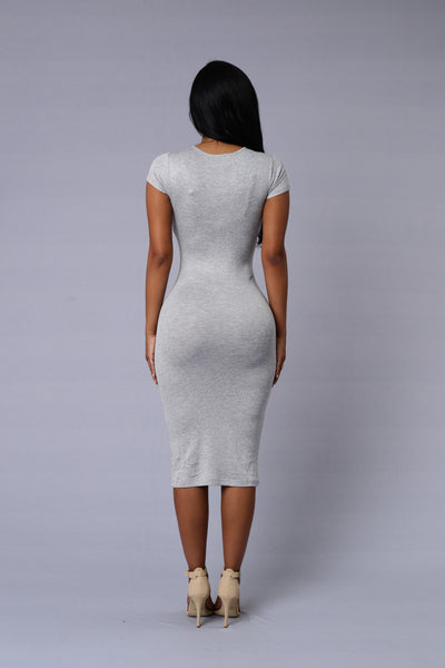 On the Rebound Dress - Heather Grey