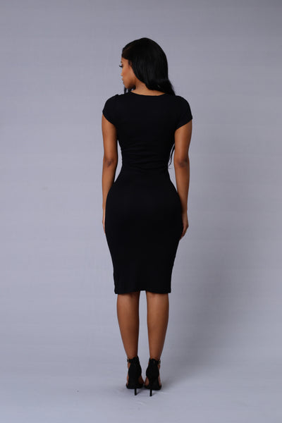 On the Rebound Dress - Black