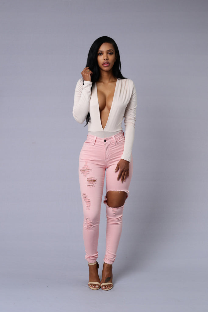 On the DL Bodysuit - Blush
