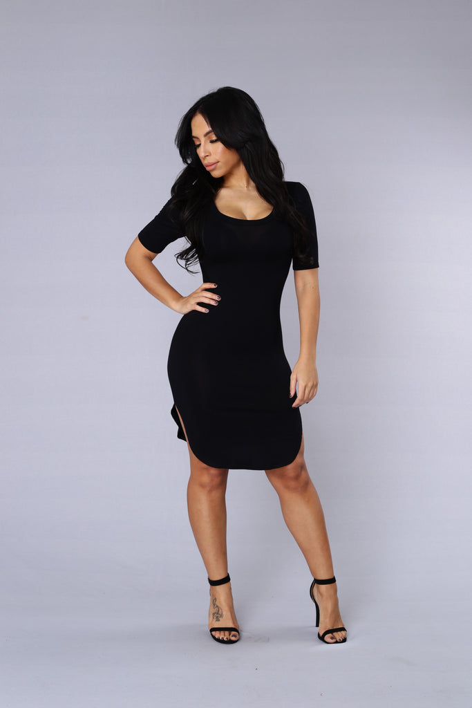 Cory Tunic Dress - Black