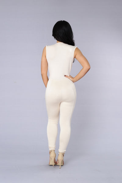 Lethal Weapon Jumpsuit - Nude
