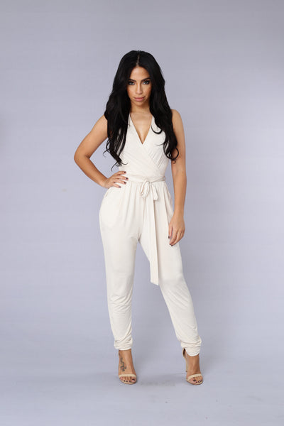 Leap of Faith Jumpsuit - Cream