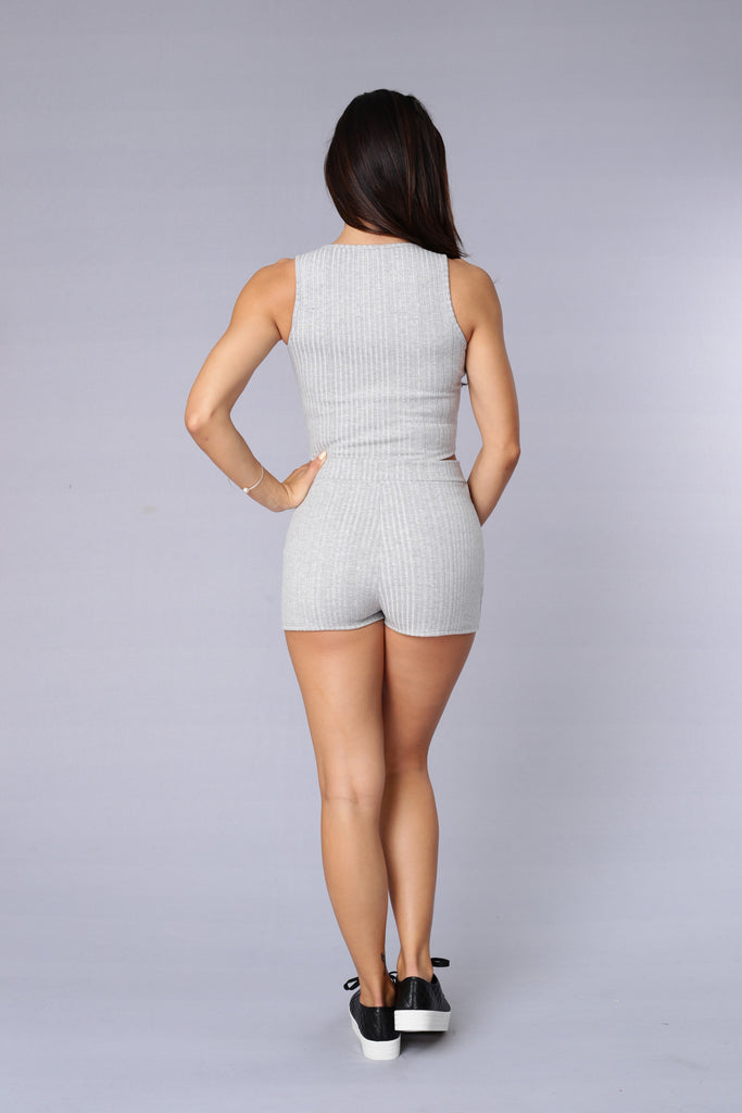 Good Girl Gone Bad Shorts - Heather Grey