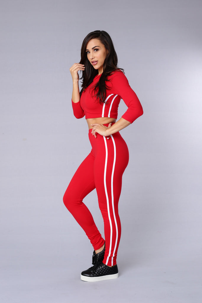 Walk this Way Legging - Red