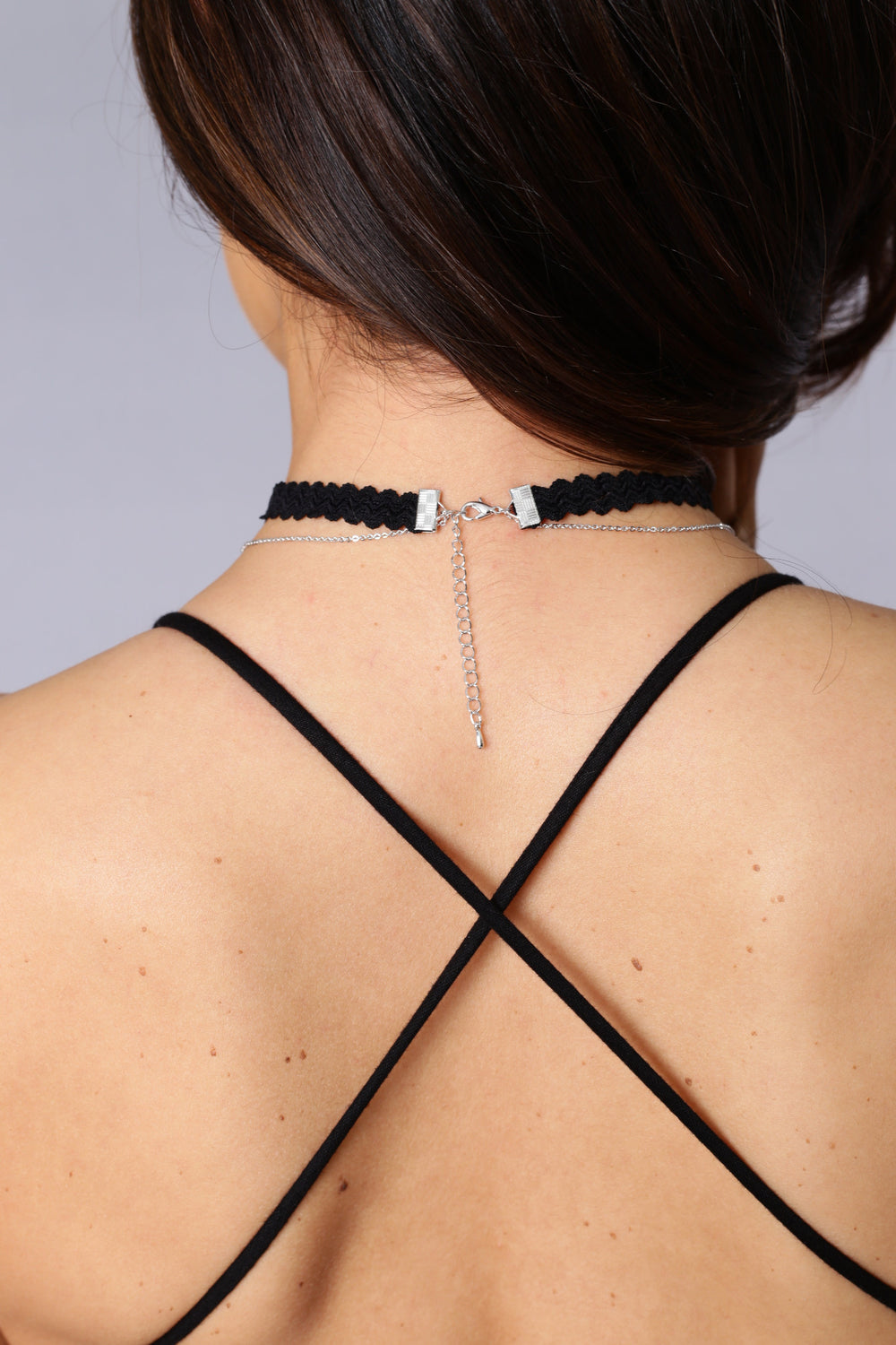 French Press Choker & Chain Necklace - Silver