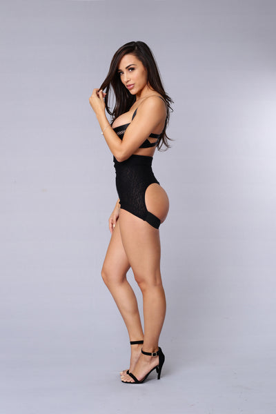 Need A Lift? High Waisted Bottom - Black