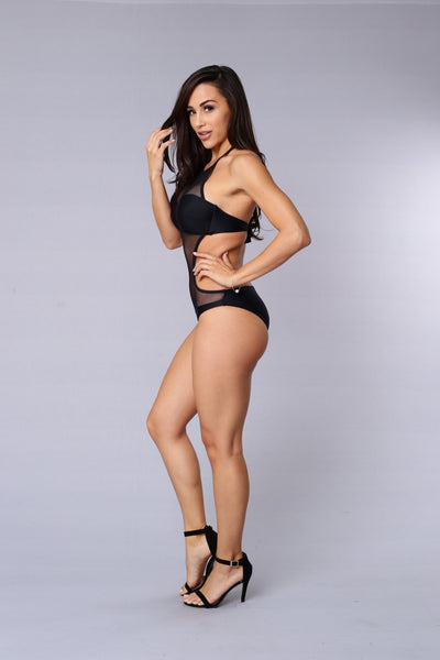 Mesh With You Swimsuit - Black