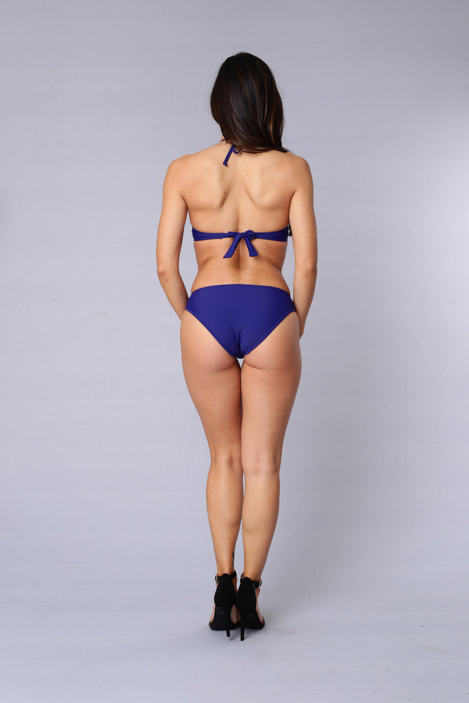 Mesh With You Swimsuit - Royal Blue