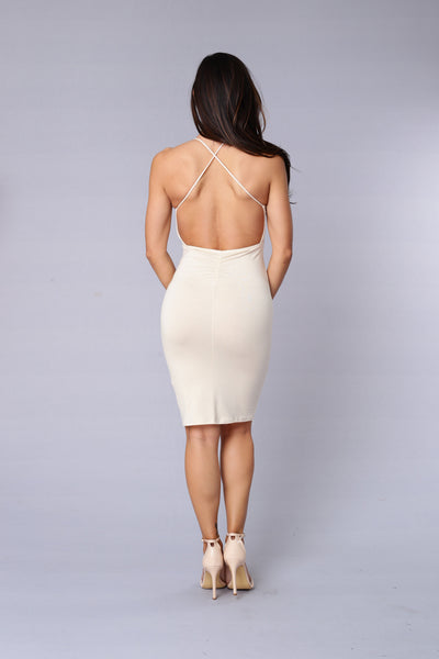 Canela Dress - Taupe
