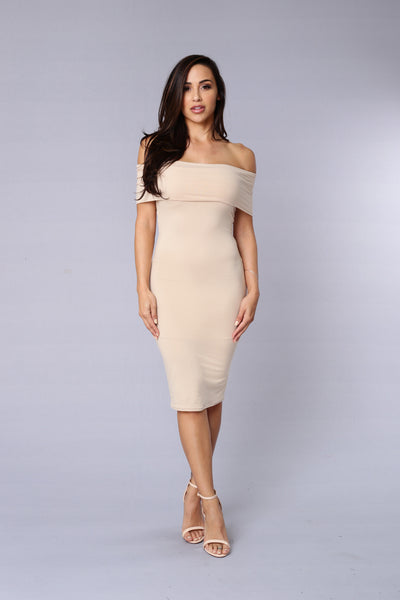 Magic Of The Night Dress - Taupe