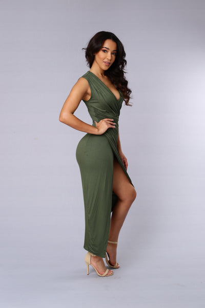 Propose A Toast Dress - Olive