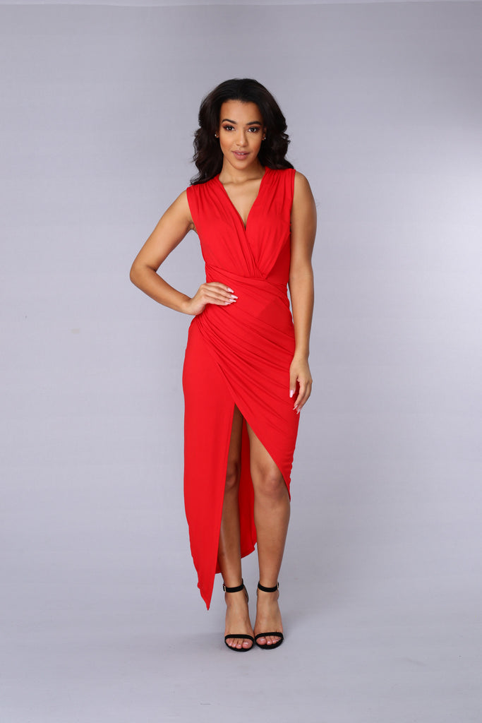 Propose A Toast Dress - Red