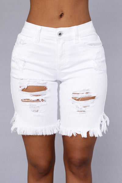 Cast Away Shorts - White