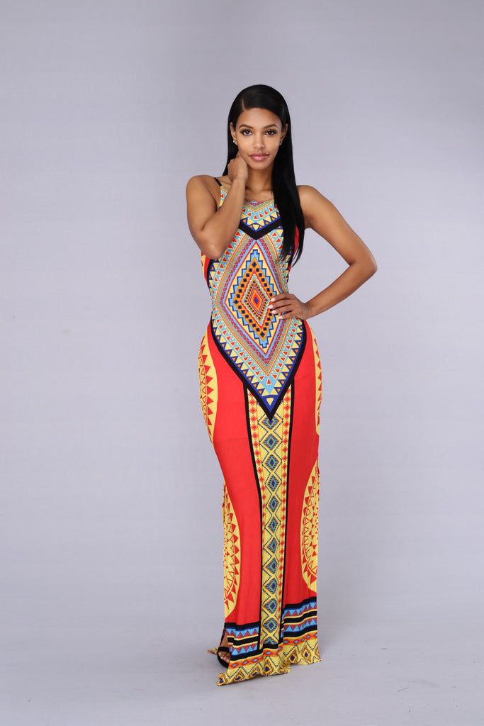 Antigua Dress - Tomato