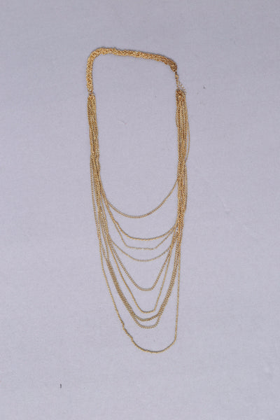 All Chained Up Necklace - Gold