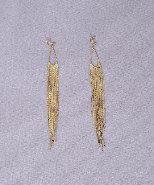 On The Fringe Earrings - Gold