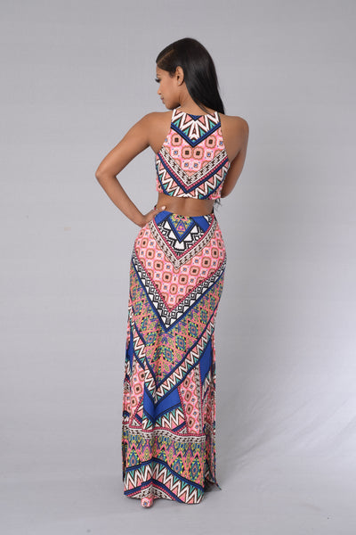 Caribbean Cruise Dress - Pink