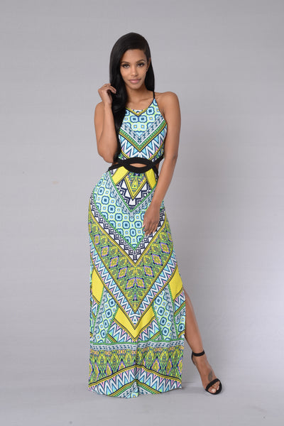 Caribbean Cruise Dress - Mint