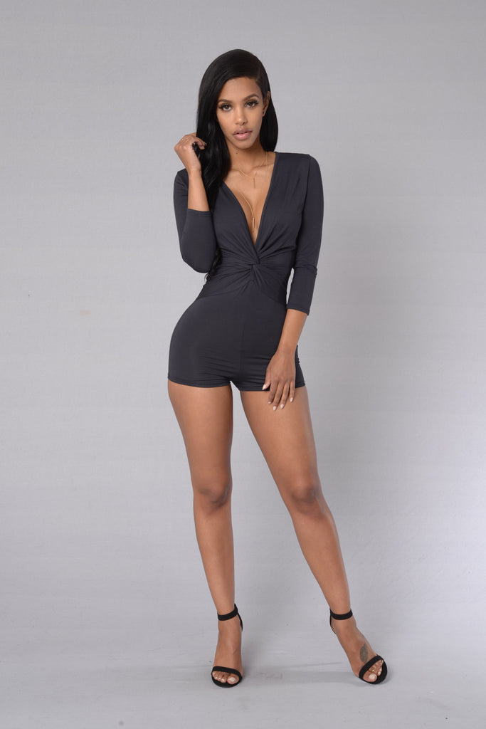 Chelsea Romper - Dark Grey