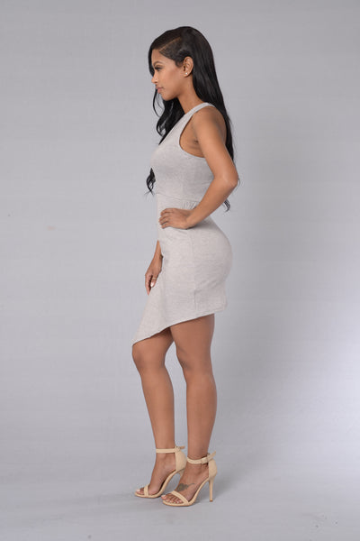 Lady At Play Dress - Heather Grey