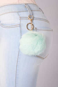 Pom Pom Key Chain - Mint