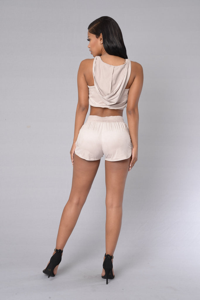 Spice Up Your Life Shorts - Taupe