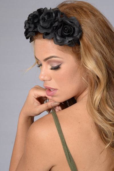 Buy Me Flowers Headband - Black