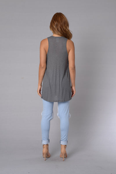 Simple Delight Tank - Charcoal