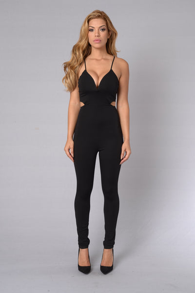 Last Friday Night Jumpsuit - Black