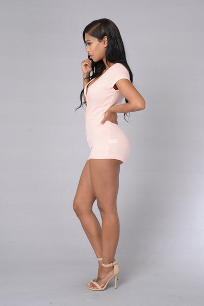 Laid Back Romper - Blush