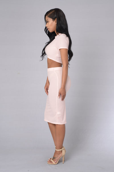 Magnolia Jersey Skirt - Rose
