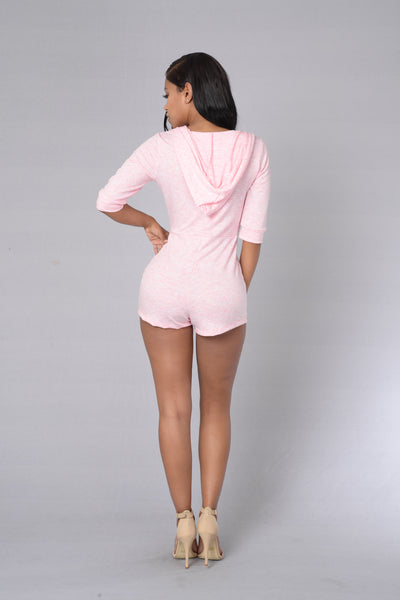 Eye-Catcher Romper - Blush