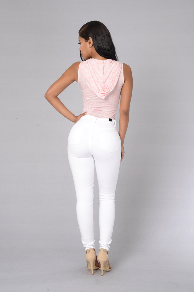 First In Line Bodysuit - Heather Pink