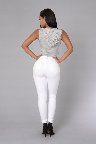 First In Line Bodysuit - Heather Grey