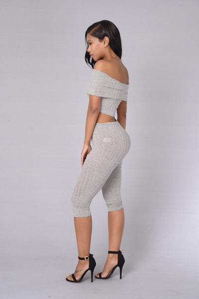 Kae Bae Leggings - Heather Grey