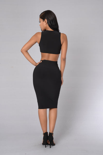 Divine Choice Skirt - Black