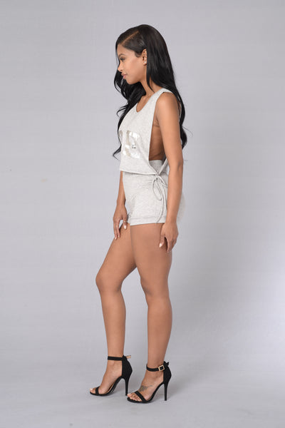 Before Anyone Else Shorts - Heather Grey