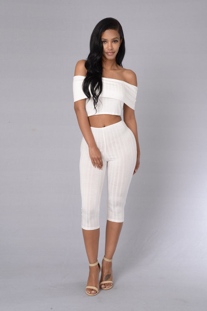 Kae Bae Leggings - White