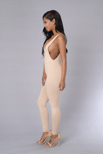 Wild N Out Jumpsuit - Taupe