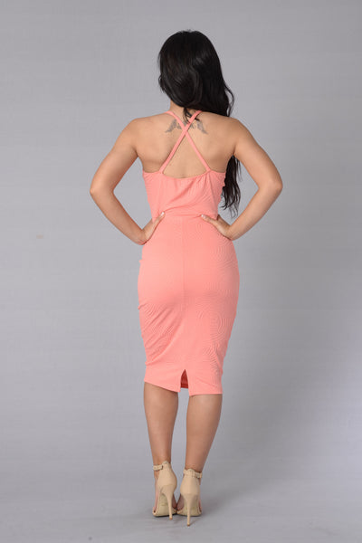 Little Miss Kiss Dress - Peach