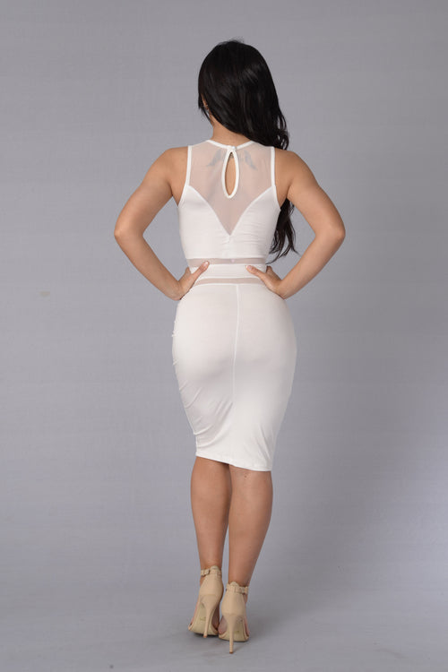 Wired Up Dress - Ivory