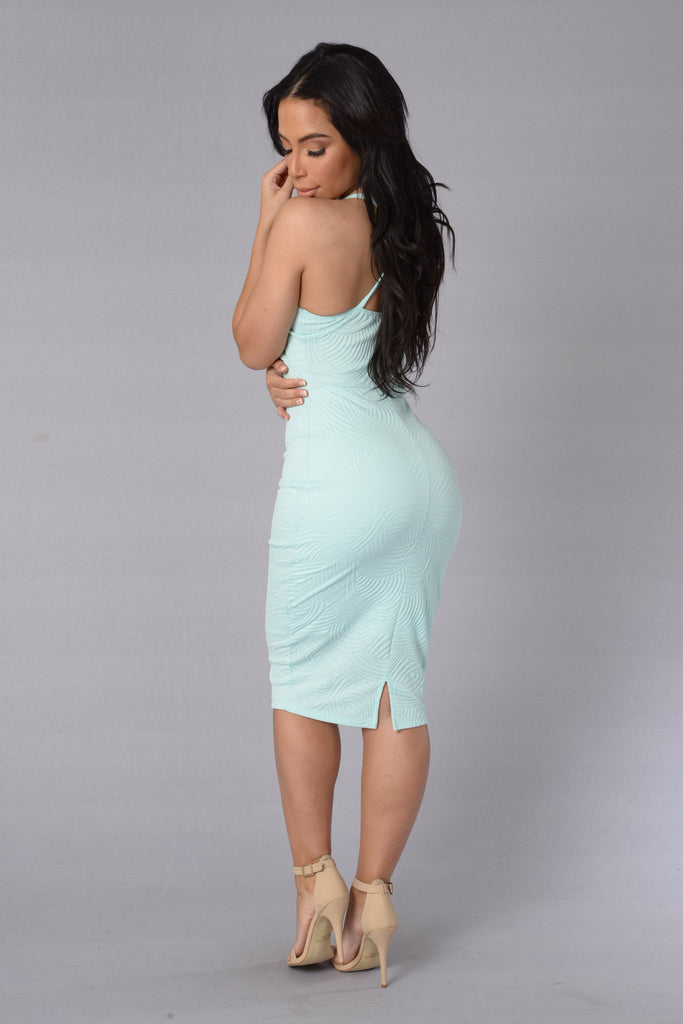 Little Miss Kiss Dress - Mint
