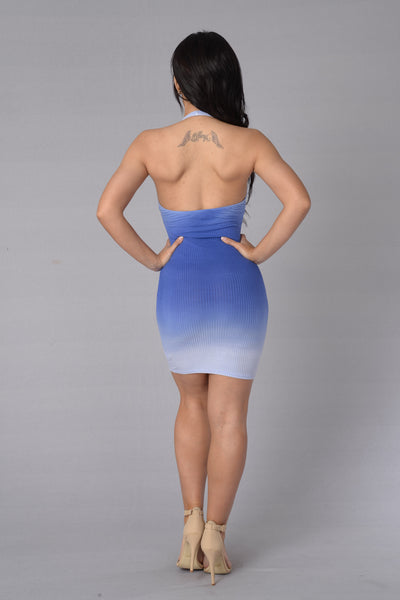 Positive Vibration Dress - Blue