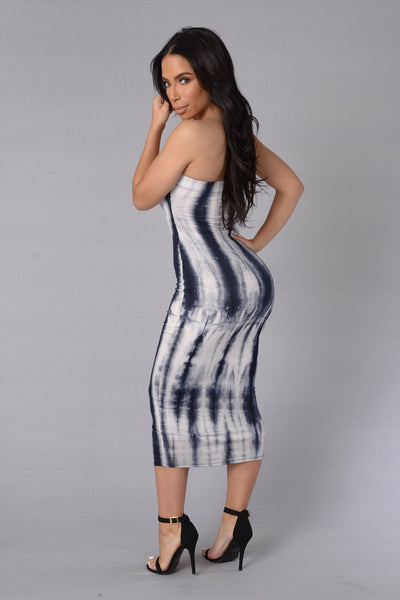 Till The Very End Dress - Navy