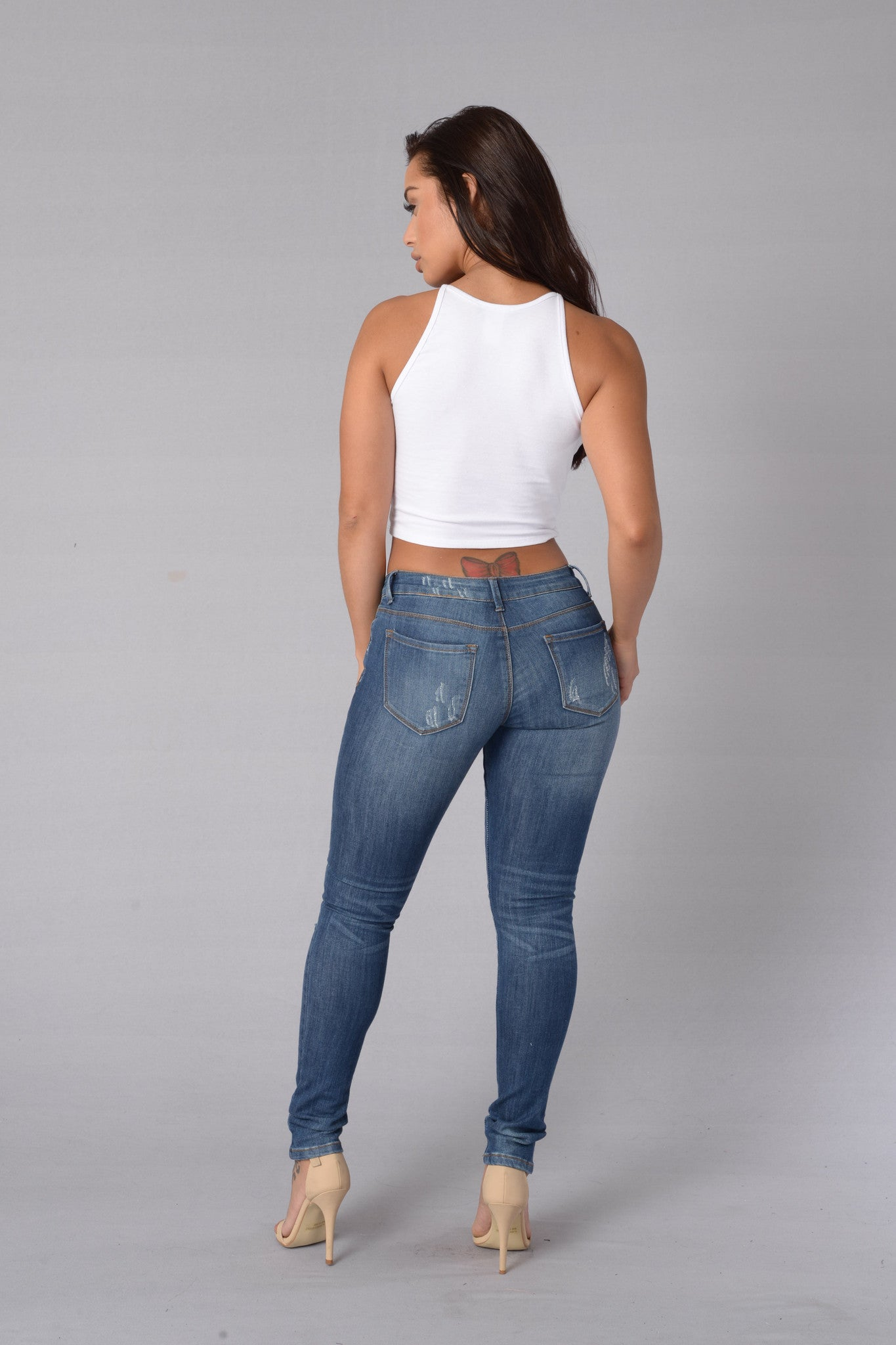 Oh My God Becky Jeans Medium Blue