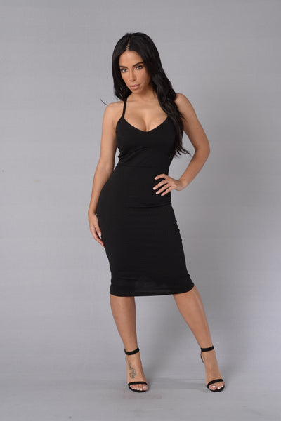 Little Miss Kiss Dress - Black